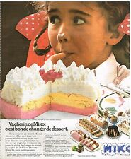 Publicité Advertising 1976 Dessert Glace la vacherin de Miko