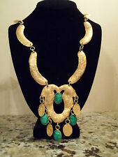 Vintage EGYPTIAN REVIVAL Necklace MADE IN ITALY Massive UNIQUE HAUTE COUTURE