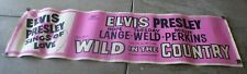 "Elvis Presley Original USA ""Wild in the Country"" Day Glow Banner 24 x 84 inches"
