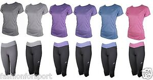 More Mile Ladies Gym Running Fitness Capri Leggings Bottoms Tights or SS Top T