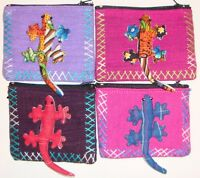 Hand Made Gecko Coin Purse from Northern Thailand 12cmx9cm 12 Colours to choose!