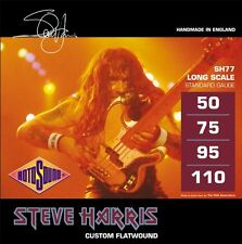 ROTOSOUND STEVE HARRIS SH77 CUSTOM FLATWOUND 4 STRING BASS GUITAR STRINGS 1 PACK