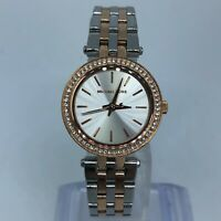 MICHAEL KORS TWO TONE STAINLESS STEEL WOMENS WATCH Case 26mm MK3298