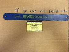 "10PCS- 14"" X 1-1/4 X .062 X 10T DOUBLE LIFE HACK SAW BLADE HIGH SPEED STEEL USA"
