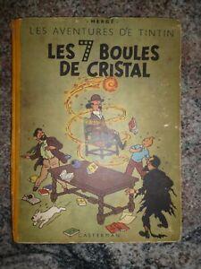 EO B2 1948 LES 7 BOULES DE CRISTAL - TITRE EN BLEU - HERGE