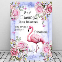 Flamingo Print Wall Art  Inspirational Quote/ Picture Gift/ Flamingo Poster A4
