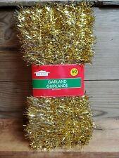 Vintage Gold Tinsel Garland