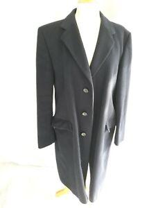Men's Wool Coat Winter Jacket Classic Long Coat St.Michael 42inch navy blue