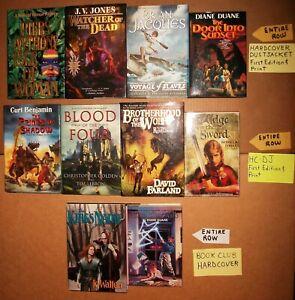 10 hardcover lot of Fantasy 8 FE 2 BCE Brian Jacques Diane Duane Piers VG EX