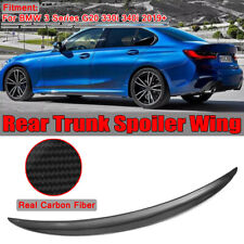 For BMW 3 Series G20 330i 340i 2019+ P Type Carbon Fiber HighKick Trunk Spoiler