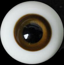 Nice DarkBrown Iris&Black Pupil 12mm Glass Eyes for Ball Joint 1/6 BJD Dollfie