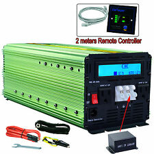 EDECOA 3000 Watt 6000W Power Inverter 12V DC to 120V AC LCD Cables Car Truc