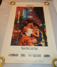 Greater Miami Opera 1993 Season Promo Poster La Traviata Tosca Carmen Poster
