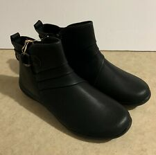 Earth Spirit Womens Ankle Boots Doti New Size 7 Comfort Arch Support Black Zip