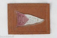 ANTIQUE 1910 COLGATE University College Leather Patch Pennant Tobacco Premium