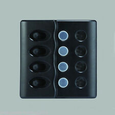 RV 4 15A CIRCUIT BREAKER SPLASHPROOF SWITCH WITH ABS PANEL LED INDICATION