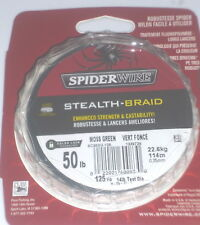 Spiderwire Stealth-Braid 50# Fishing Line (Moss Green-125 Yards)