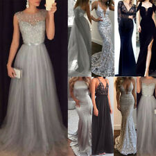 Women Maxi Bodycon Mermaid Dress Ball Prom Gowns Formal Party Bridesmaid Dresses