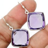 Natural Amethyst - Brazil 925 Sterling Silver Earrings Jewelry 9676