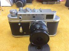 Vintage Zorri 4 camera with original Jupiter 8 lense. Original leather case.USSR