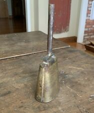 Vintage Antique  Brass Bell on a Handle  School Bell  Metal  Cow Bell  Decor EUC