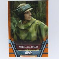 2020 Topps Star Wars Holocron Orange Parallel #REB-16 Princess Leia Organa/99