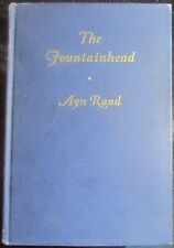 1943 Ayn Rand The Fountainhead, 1st Edition Early State Bobbs-Merrill w/Errors