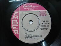 """THE JOHN BARRY SEVEN & ORCHESTRA EMB S181 RARE SINGLE 7"""" INDIA INDIAN 45 rpm VG+"""