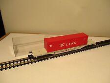 """PLATAFORMA 4 EJES FLEISCHMANN REF. 8247 CON CONTENEDOR """"K"""" LINE (B559)"""