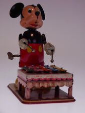 """gsTOP GSCOM LINEMAR """"MICKEY MOUSE WITH XYLOPHONE"""" 1950s,17cm,WUP OK, NEARLY NEW"""