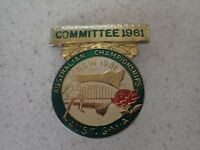 Australia Bowling Comittee 1981 Championships G.M.A  Badge Pin