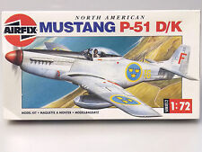(PRL) MUSTANG P-51 D/K MAQUETTE MODEL 1:72 AEREO AVION PLANE AIRFIX HUMBROL WWII