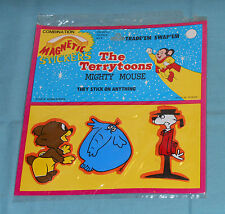 vintage Mighty Mouse / The Terrytoons Magnetic Puffy Stickers Mip new/sealed