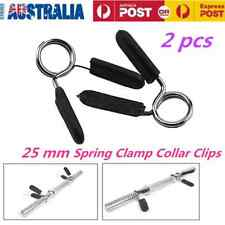 2X 25mm Spring Clamp Collar Clips for  Weight Bar Dumbbells Gym Fitness Training