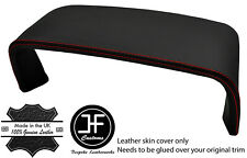 RED STITCH SPEEDO COWL HOOD LEATHER COVER FOR JAGUAR XJ40 XJR 86-94