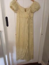 Vintage Couture House of Lachasse Regency Style Primrose Yellow Stripe Dress