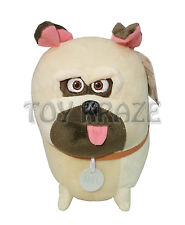 "THE SECRET LIFE OF PETS PLUSH! MEDIUM MEL CREAM PUG DOG SOFT DOLL 9"" NWT"