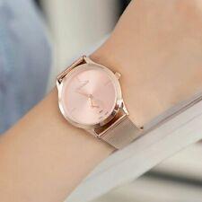 Elégante Montre femme Quartz Couleur OR ROSE Bracelet métal Neuve PROMO