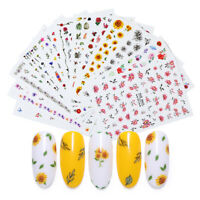 3D Nail Transfer Stickers Multi Size Flowers Decals Nail Tips Decorations