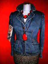 Miss Sixty chaqueta vaquera jeans BLAZER chaqueta Boho blogueros talla s 36 38 nuevo!!! top!!!