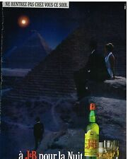 Publicité Advertising 1987 Scotch Whisky J&B