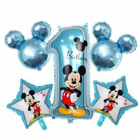 Disney Mickey Minnie Mouse 1st Birthday Foil Balloons Decoration Party 5 pcs