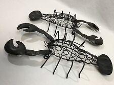 "Lobster Wall Decor Set of 2 Wire Sculpture 16""  Seaside Ocean Coastal Rustic Art"