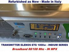 Broadcast Prof Elenos 1000w Indium Series FM Transmitter Wide Band 88/108 Mhz