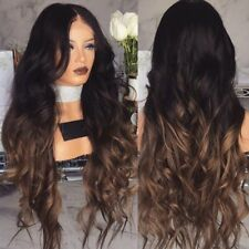 1Pc New Fashion Women Lady Long Wavy Curly Hair Gradient Wigs Party Decor Gift J
