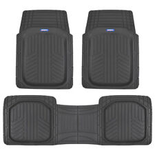 ACDelco Car Floor Mats Deep Dish Rubber Thick Odorless & All Weather for Auto