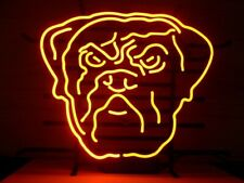 """Cleveland Browns Neon Lamp Sign 20""""x16"""" Bar Light Beer Glass Windows Display"""