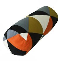 ak+6 Colors Stripe Pattern Cotton Canvas Bolster Yoga Cushion Cover Custom Size