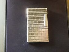 Stunning 2005 Rare Design S T Dupont L1 Large Silver Plated Lighter Boxed+Papers