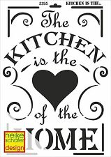 Schablone - A3 - Art.Nr. 014-5395  Kitchen is the Heart ... - Heike Schäfer